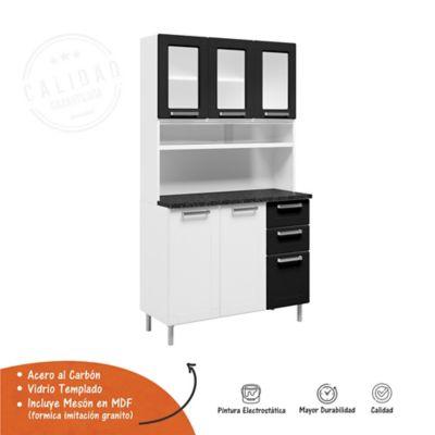 Mueble Multiusos Blanco/Negro 1 M Incluye Mesón