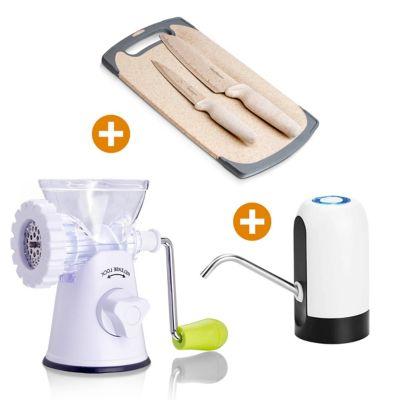 Molino + Bomba Eléctrica Agua + Cuchillos + Tablatrigo