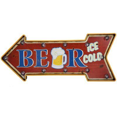 Letrero Beer Flecha Ice