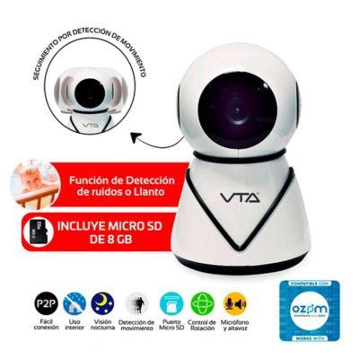 Cámara IP 720P HD Seguimiento Automático + Micro SD 8GB