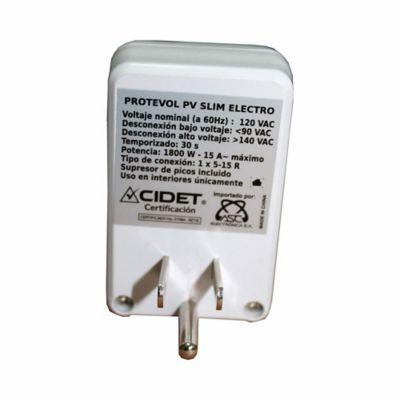 Protector de Voltaje Slim Electrodomésticos 1800W-15a-120V