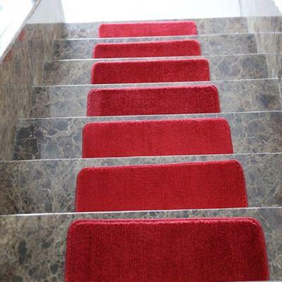 Juego X 13 Tapetes para Escaleras 66x23 cm Softy Rojo