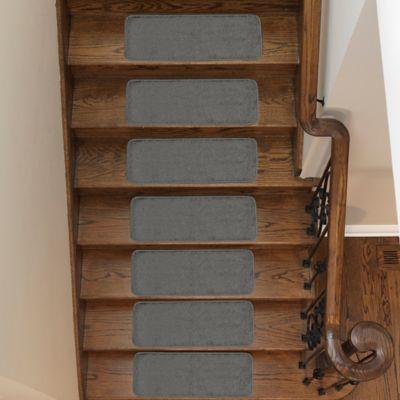 Juego X 14 Tapetes para Escaleras 66x23 cm Softy Gris