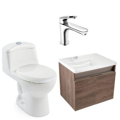 Combo Pontus Vital : Sanitario Smart + Mueble Pontus 60 cm + Lavamanos Pontus + Grifería Koral