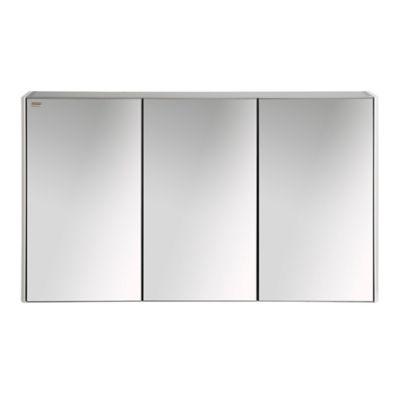 Gabinete Con 3 Puertas Color Blanco Mate 120 Cm
