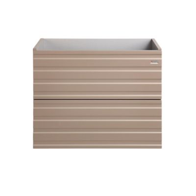 Mueble De Baño 60cm 2 Cajones Tortora Mate Serie Line