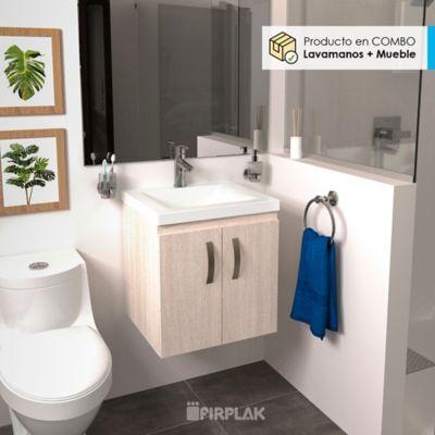 Kit Lavamanos Siena Blanco + Mueble Basico Elevado 48x43 Soder