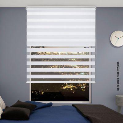 Persiana Enrollable 2En1 100x180 cm Blanco Perlado
