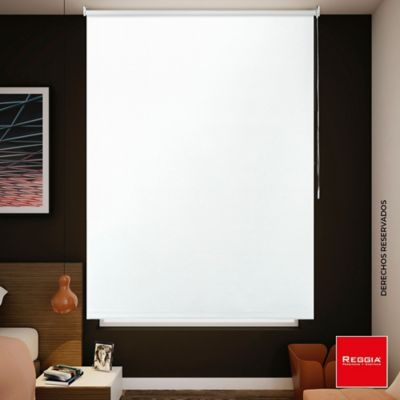 Cortina Enrollable Blackout 120x180 Blanco Polar