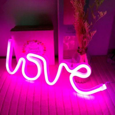 Luminaria Decorativa Neón Love
