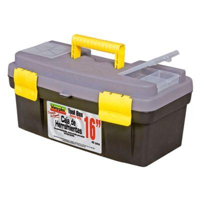 Caja Herramienta con Cierre Plástico 16I Gris