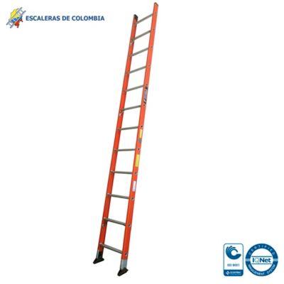 Escalera Tipo 1a Sencilla Dieléctrica 12 Pasos / 3.60 Metros 136 Kg