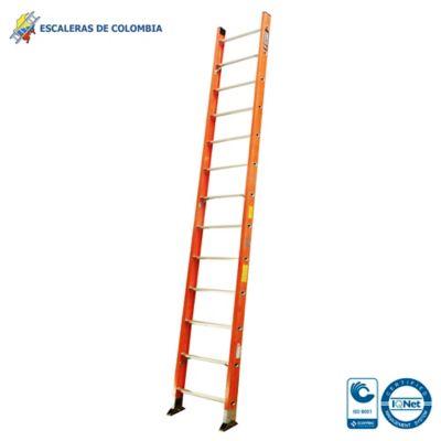 Escalera Tipo 1a Sencilla Dieléctrica 13 Pasos / 4.0 Metros 136 Kg