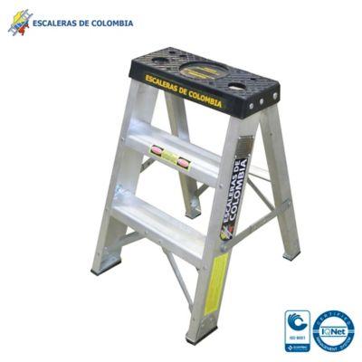 Escalera Aluminio Tipo 1A Tijera  2 Pasos / 0.60 Metros 136 Kg