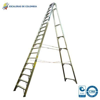 Escalera Aluminio Tipo 1A Tijera  20 Pasos / 6.0 Metros 136 Kg