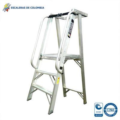 Escalera Tipo 1A Plataforma Aluminio 3 Pasos /0.90 Metros 136 Kg