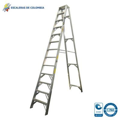Escalera Aluminio Tipo 1A Tijera  13 Pasos / 4.0 Metros 136 Kg