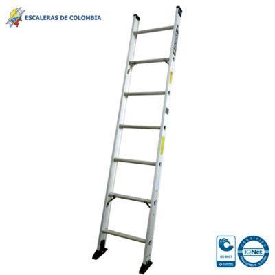 Escalera Tipo 1a Sencilla Aluminio 7 Pasos / 2.10 Metros 136 Kg