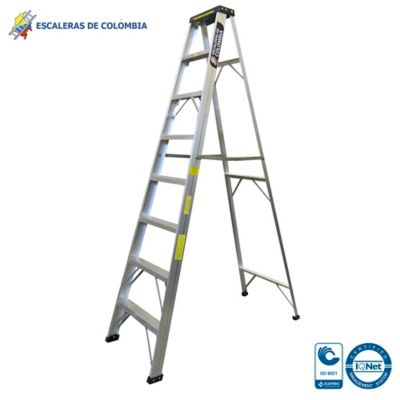 Escalera Aluminio Tipo 1 Tijera  8 Pasos / 2.40 Metros 102 Kg