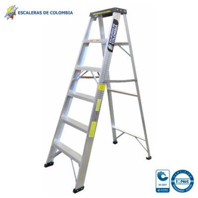 Escalera Aluminio Tipo 1 Tijera  6 Pasos / 1.80 Metros 102 Kg