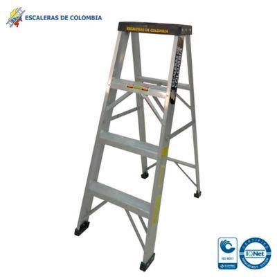 Escalera Aluminio Tipo 1 Tijera  4 Pasos / 1.20 Metros 102 Kg