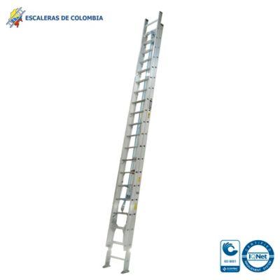 Escalera Tipo 1A Extensión Aluminio 40 Pasos / 12.0 Mts 136 Kg