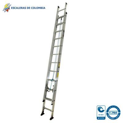 Escalera Tipo 1A Extensión Aluminio 24 Pasos / 7.40 Mts 136 Kg