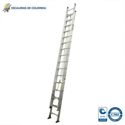Escalera Tipo 1A Extensión Aluminio 32 Pasos / 10.00 Mts 136 Kg