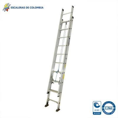 Escalera Tipo 1A Extensión Aluminio 16 Pasos / 5.00 Mts 136 Kg