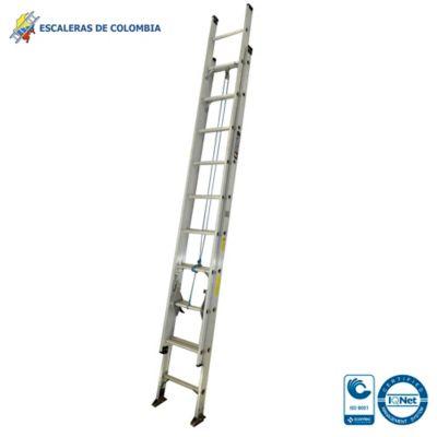Escalera Tipo 1A Extensión Aluminio 20 Pasos / 6.00 Mts 136 Kg