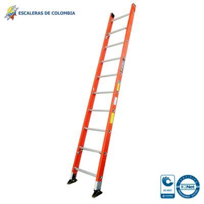 Escalera Tipo 1 Sencilla Dieléctrica 10 Pasos / 3.0 Metros 114 Kg