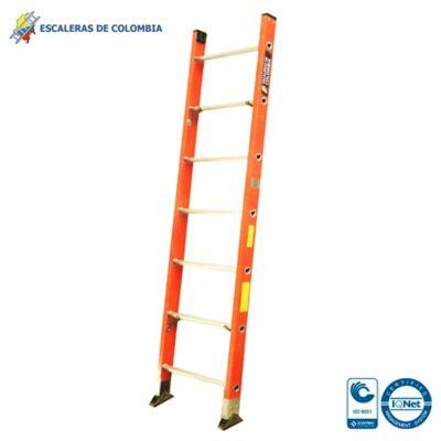 Escalera Tipo 1a Sencilla Dieléctrica 7 Pasos / 2.10 Metros 136 Kg