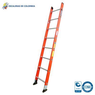 Escalera Tipo 1a Sencilla Dieléctrica 8 Pasos / 2.40 Metros 136 Kg