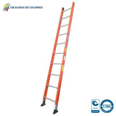 Escalera Tipo 1a Sencilla Dieléctrica 10 Pasos / 3.0 Metros 136 Kg