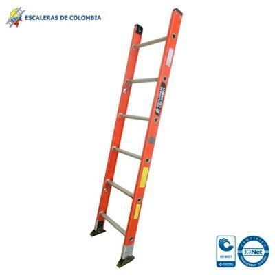 Escalera Tipo 1a Sencilla Dieléctrica 6 Pasos / 1.80 Metros 136 Kg