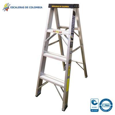Escalera Aluminio Tipo 1A Tijera  4 Pasos / 1.20 Metros 136 Kg