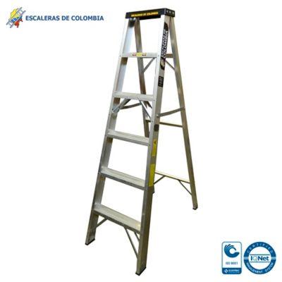 Escalera Aluminio Tipo 1A Tijera  6 Pasos / 1.80 Metros 136 Kg