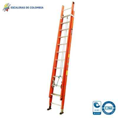 Escalera Tipo 1 Extension Dieléctrica 24 Pasos / 7.40 Mts 114 Kg