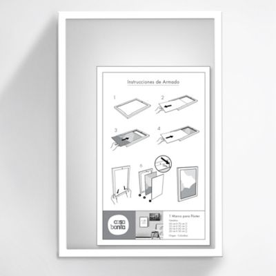 Marco Posters 45x30 cm Blanco