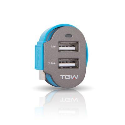 Cargador para Auto Dual USB 3000 MAH con Cable Micro USB