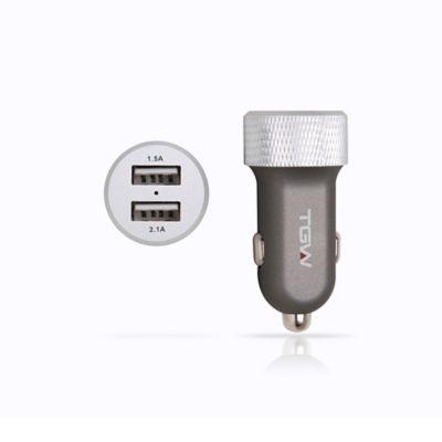 Cargador para Auto Dual USB 3600 MAH Diseño en Aluminio
