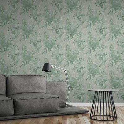Papel Mural Hojas Verde Claro Greenery 53 cm x 10Mt