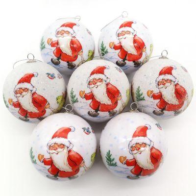 Set X7 Esferas 7.5cm Santa