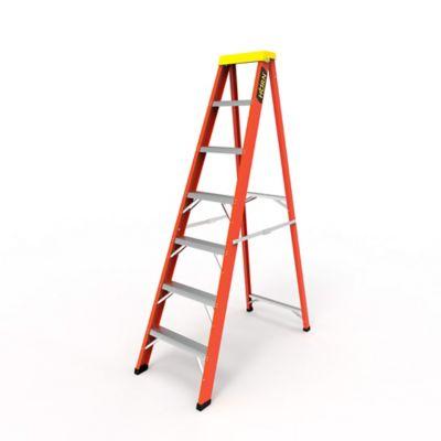 Escalera Tijera 7 Pasos en Fibra de Vidrio