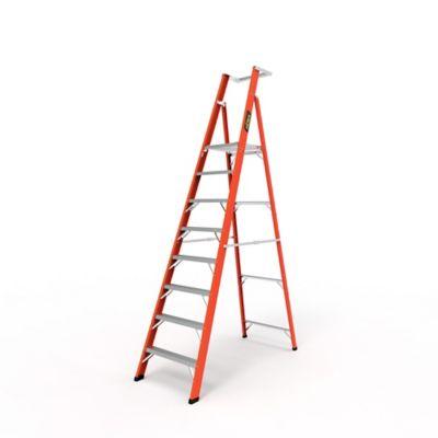 Escalera Plataforma 8 Pasos en Fibra de Vidrio