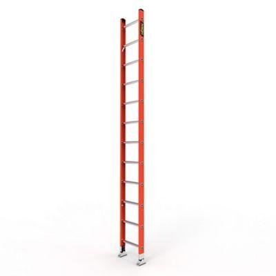 Escalera Sencilla de 12 Pasos en Fibra de Vidrio