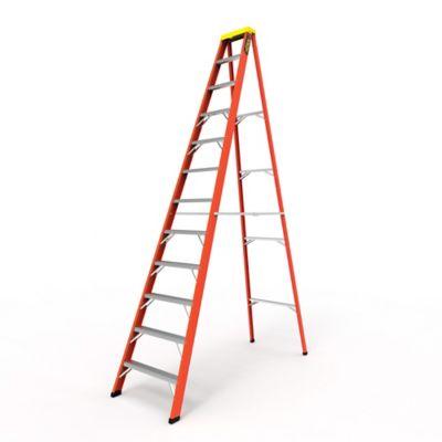 Escalera Tijera 12 Pasos en Fibra de Vidrio