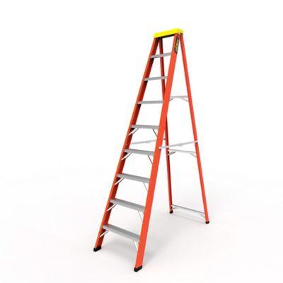 Escalera Tijera 9 Pasos en Fibra de Vidrio