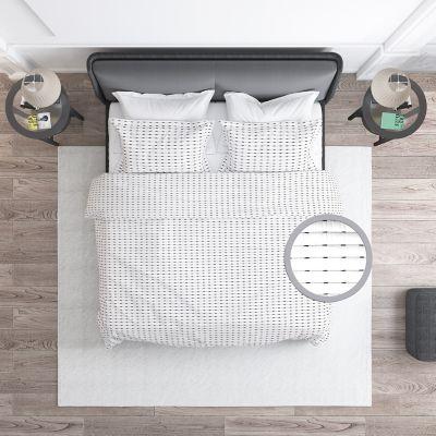 Cubrelecho 190x230 cm Blanco Lineal