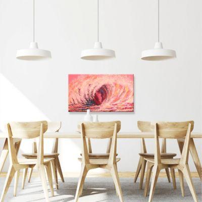 Lienzo Decorativo Ola Rojos Configurable 0-45x0-80cm
